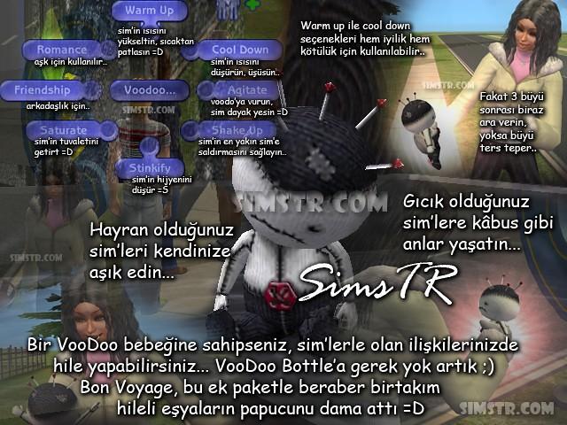 The Sims 2 Bon Voyage Voodoo Doll Büyü Bebeği