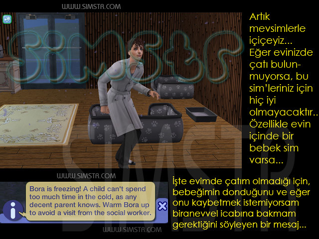 The Sims 2 Seasons Roofless House Çatısız Ev
