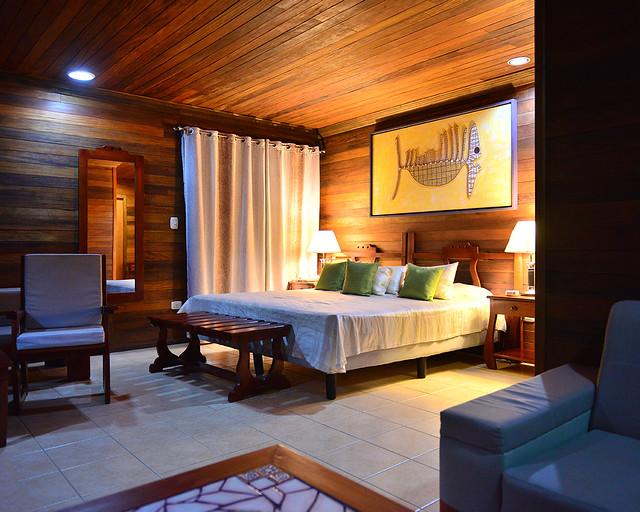 La habitación de madera que nos dieron para dormir en Cayo Levisa