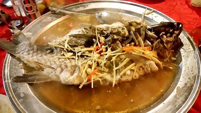 Steamed ikan semah