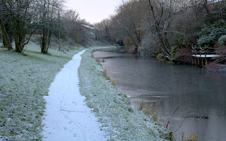 Frozen path by the canal at Preston | by Tony Worrall