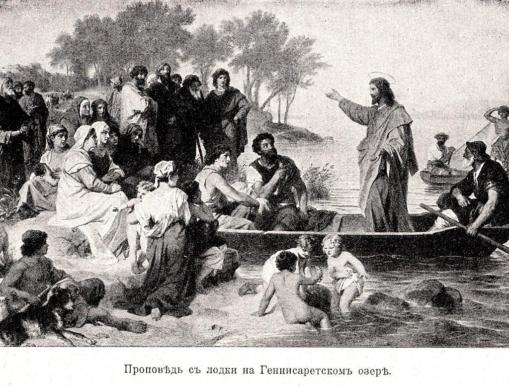 Изображение 37: Проповедь с лодки на Геннисаретском озере.