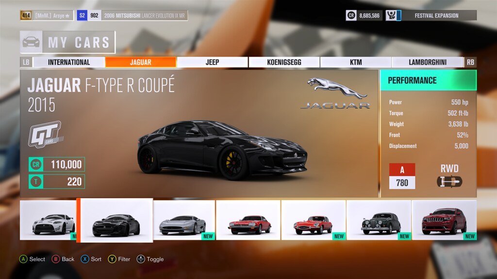 FH3 Time Attack | Stock Car Challenge #26 (2015 Jaguar F-Type R Coupe) 28160907169_c79675e2be_b