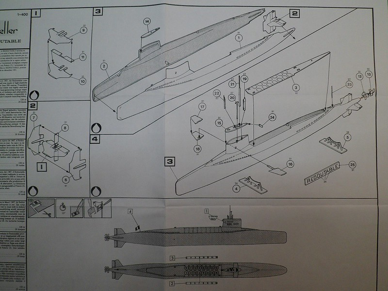 Ouvre-boîte sous-marin Le Redoutable [Heller 1/400] 39282673874_16e1fbb998_c