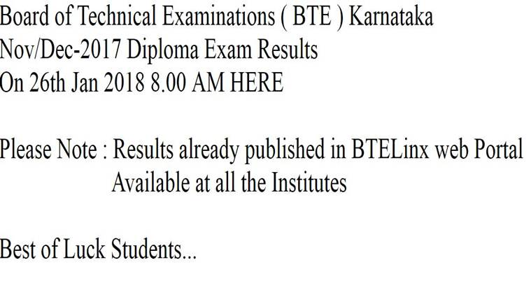 BTELinx Diploma Results Nov / Dec 2017 Announced, Portal Finally Working