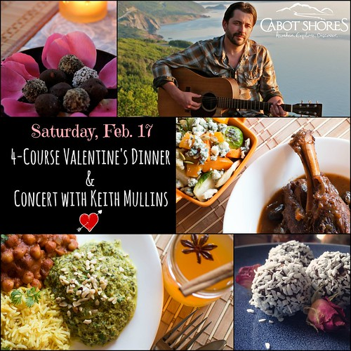 Valentines event with 4-course dinner and concert with Keith Mullins