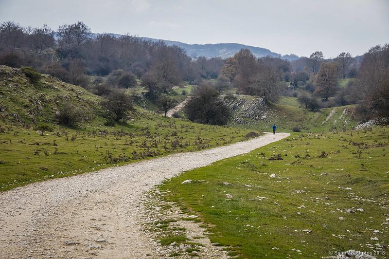 Senda del Pastoreo cerca de la Venta de Lizarraga