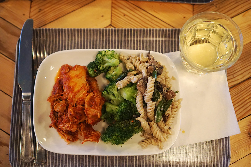 Gluten free Harissa chicken, broccoli and brown rice pasta from Farmstand | Covent Garden | Central London | 100% gluten free restaurant
