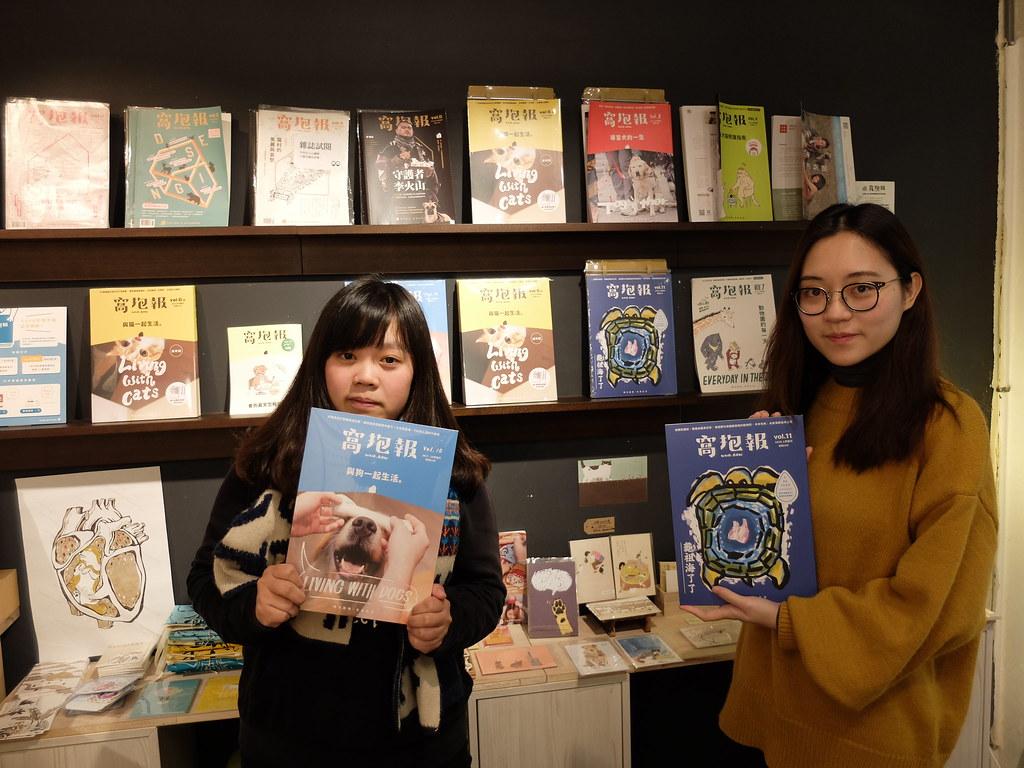 此次集資計畫的主要團隊成員陳信安(左)及晨安,兩人皆是在校學生,以實習生身分參與。攝影:林睿妤。