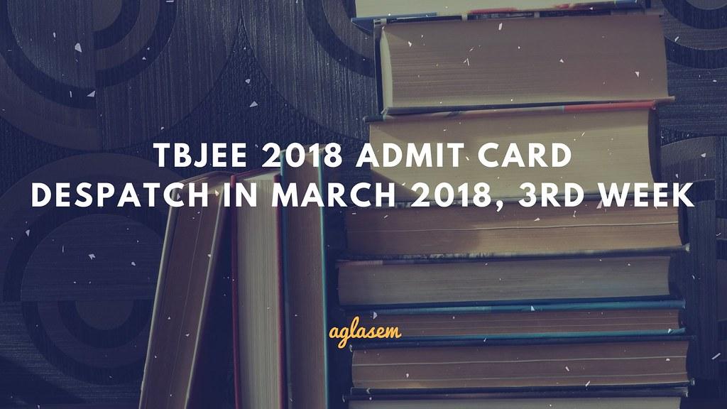 TBJEE 2018 Admit Card