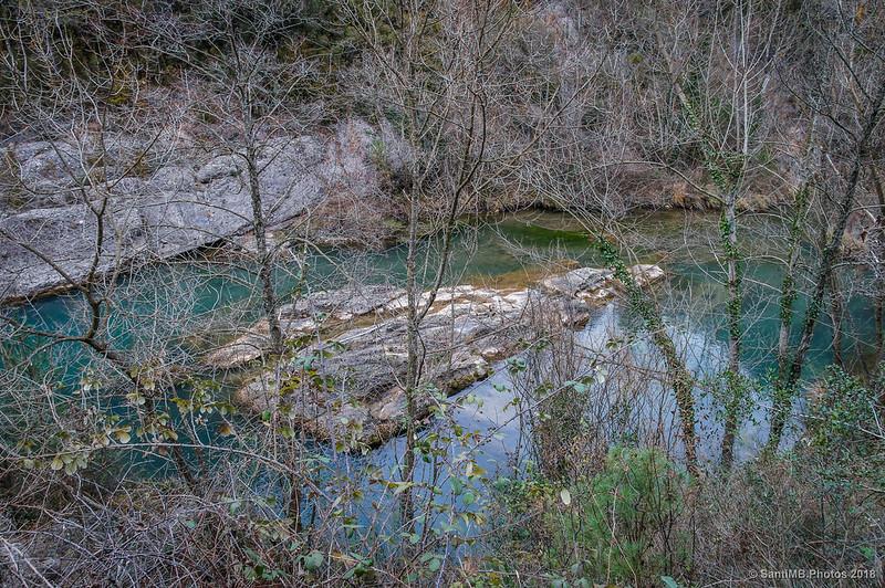 Río Llobregat desde la Vía Verde del Carrilet