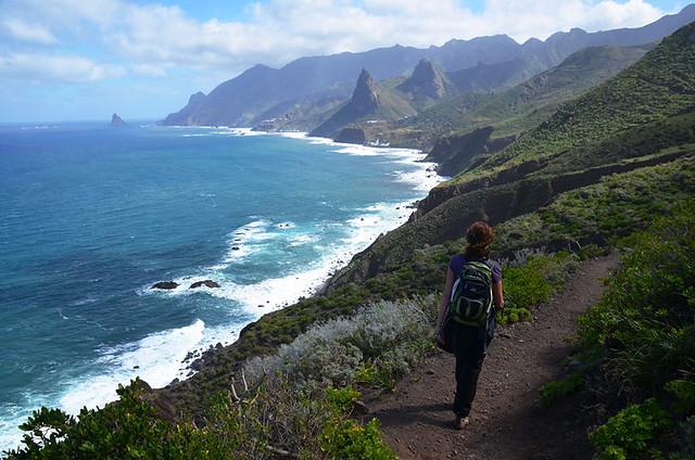 Steep landscape, Anaga, Tenerife