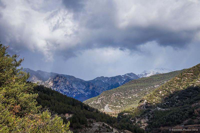 Serra del Moixeró desde el Mirador de Bagà en la Vía del Nicolau