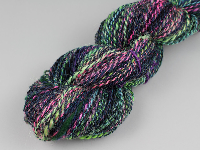 Northern Lights spinalong skein 1