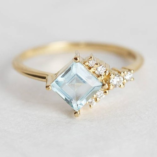 gold Gorgeous aquamarine and...