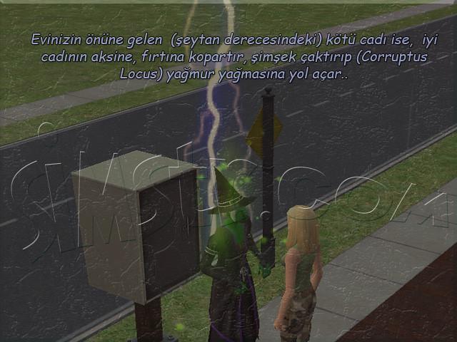 The Sims 2 Apartment Life Apartman Hayatı Witchiness Cadılık Kötü Büyü Corruptus Locus