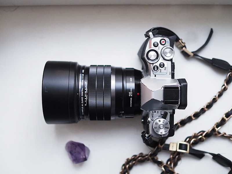 Olympus OM-D E-M5 II ja 25mm f1.2 objektiivi