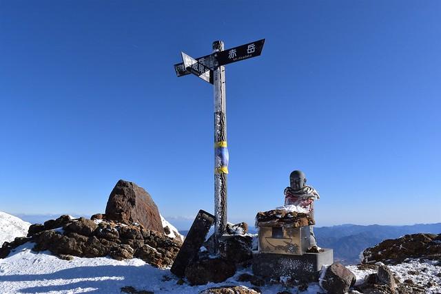 冬の八ヶ岳登山 地蔵の頭