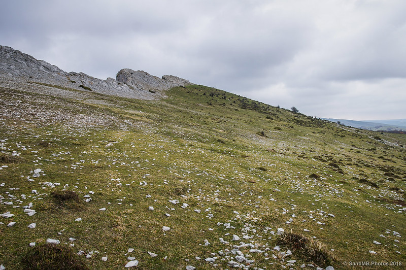 Cerca de las crestas de Ollide