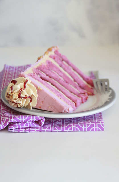 Double Frosted Peanut Butter Jelly Cake