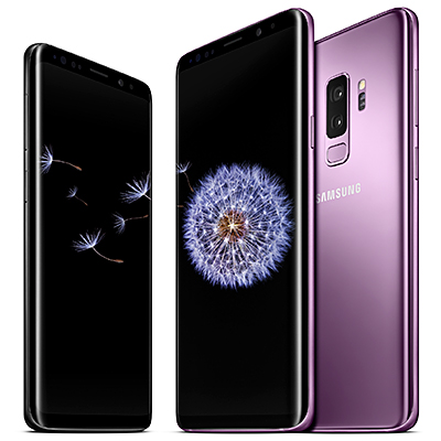 The new Samsung Galaxy S9 and Samsung Galaxy S9+ flagship Android smartphones.