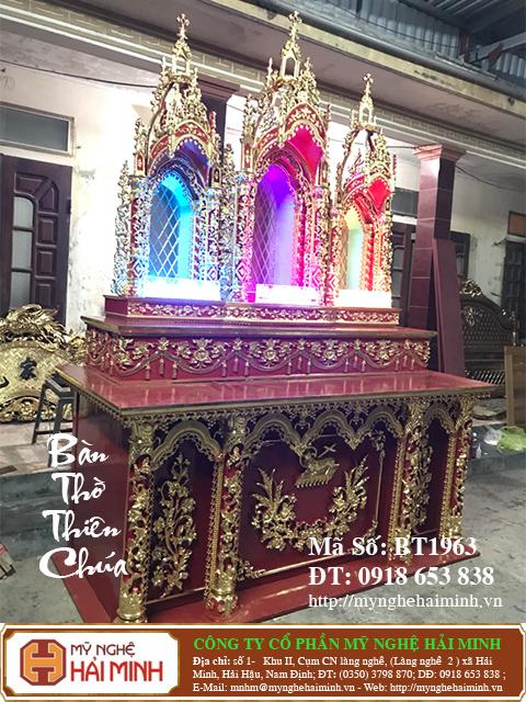 BT1964l Ban Tho Thien Chua do go mynghehaiminh