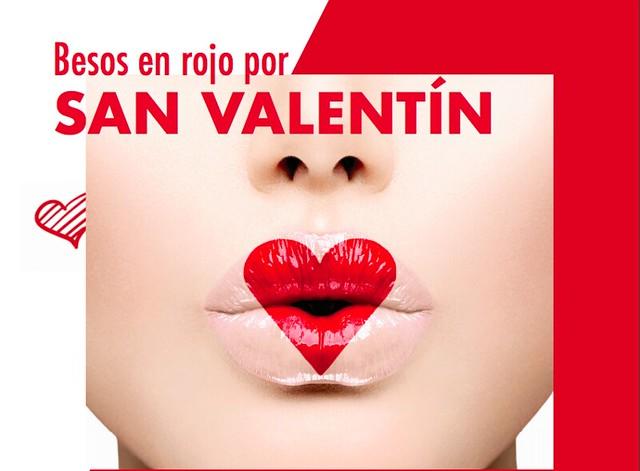 Besos rojos san Valentin
