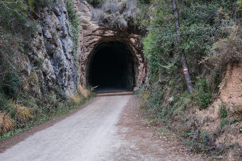 Túnel en la Vía Verde del Llobregat