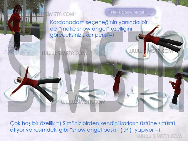 The Sims 2 Seasons Snow Angel Kar Perisi