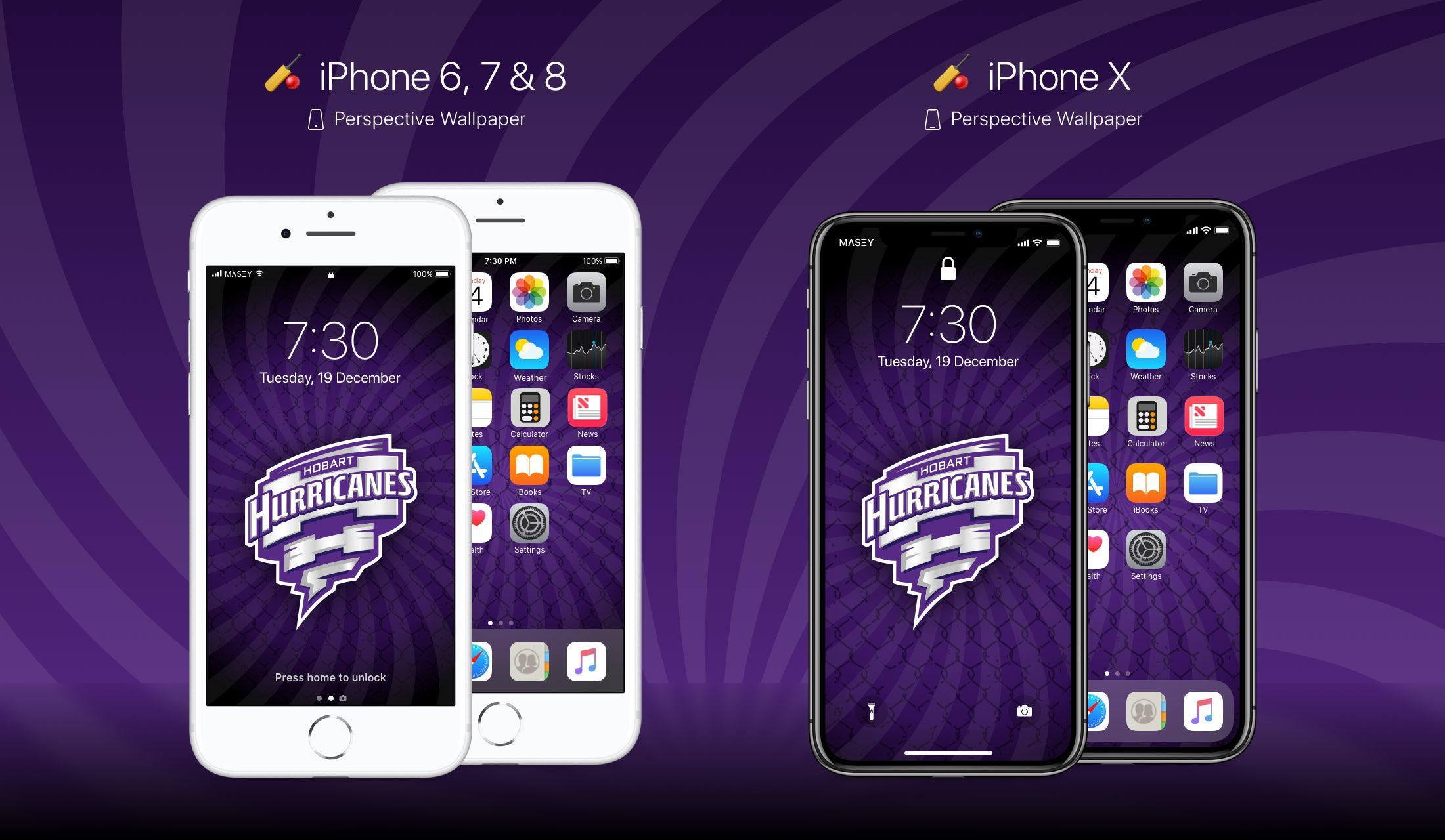 Hobart Hurricanes iPhone Wallpaper