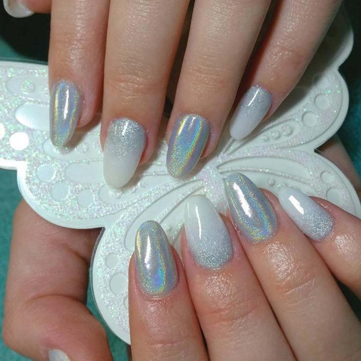 Silver-Glitter-Gel-Nail-Design | mahmoud saad | Flickr