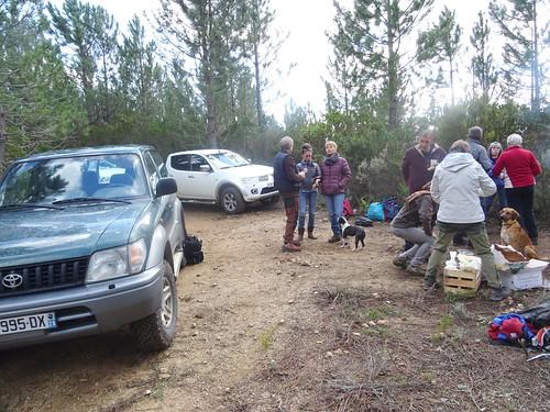 Quelques vues du spuntinu sur la piste de Fugulina