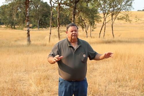 Jeff Baxter standing on rye grass