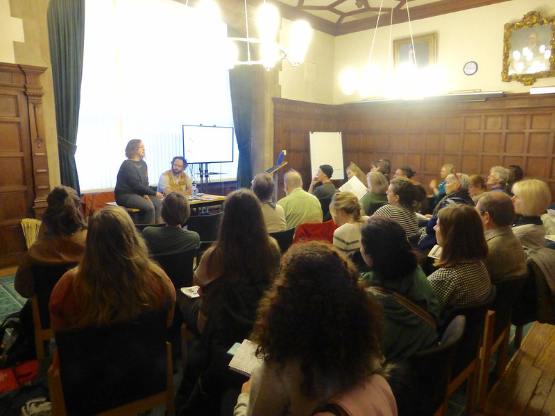 A full room of participants in the Gardens of Sanctuary session at ORFC 2018