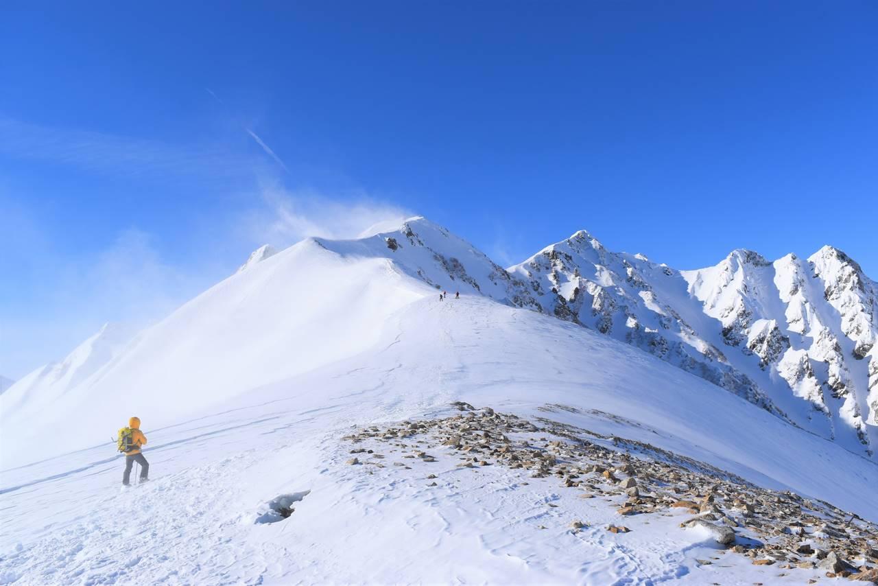 冬の北アルプス・唐松岳 日帰り雪山登山