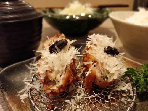 Saboten's Shaved Padano Cheese Truffle Katsu