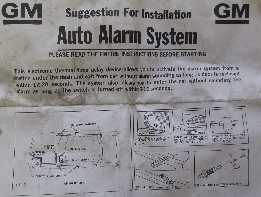 57 Chevrolet, Battery Cut-Off System, Alarm -- posted image.