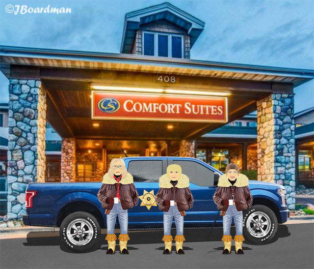 The Posse arrived at the Comfort Suites Hotel ©JBoardman