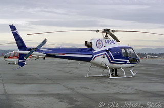 European Helicopter Center LN-OAC AS350B-2 Ecureuil at ENFB/FBU 20-02-1998 | by Ole Johan Beck