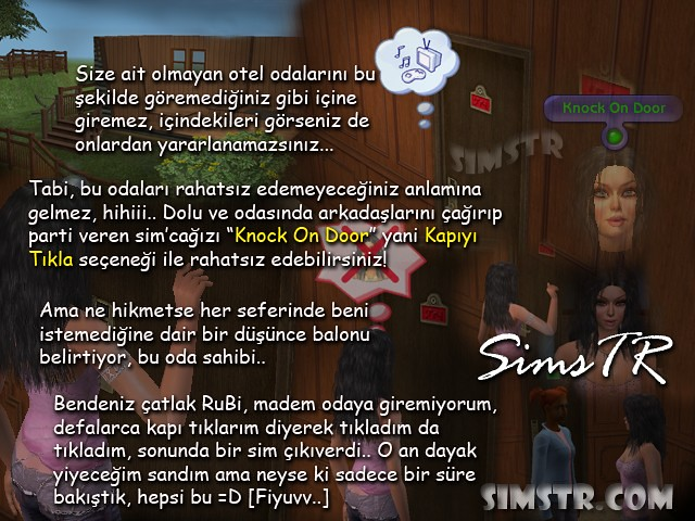 The Sims 2 Bon Voyage Knock On Door Kapıyı Tıkla