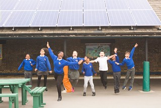 Robert Blair primary and their brand new solar panels | by 1010 Climate Action