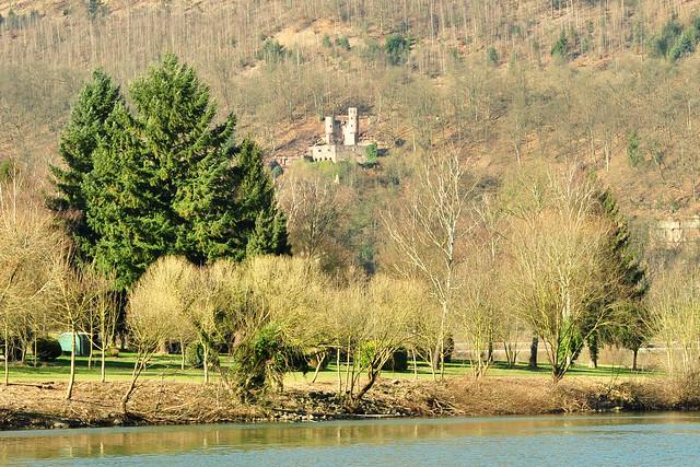 Die südhessische Vierburgenstadt Neckarsteinach im Neckartal ... Foto: Brigitte Stolle Februar 2018