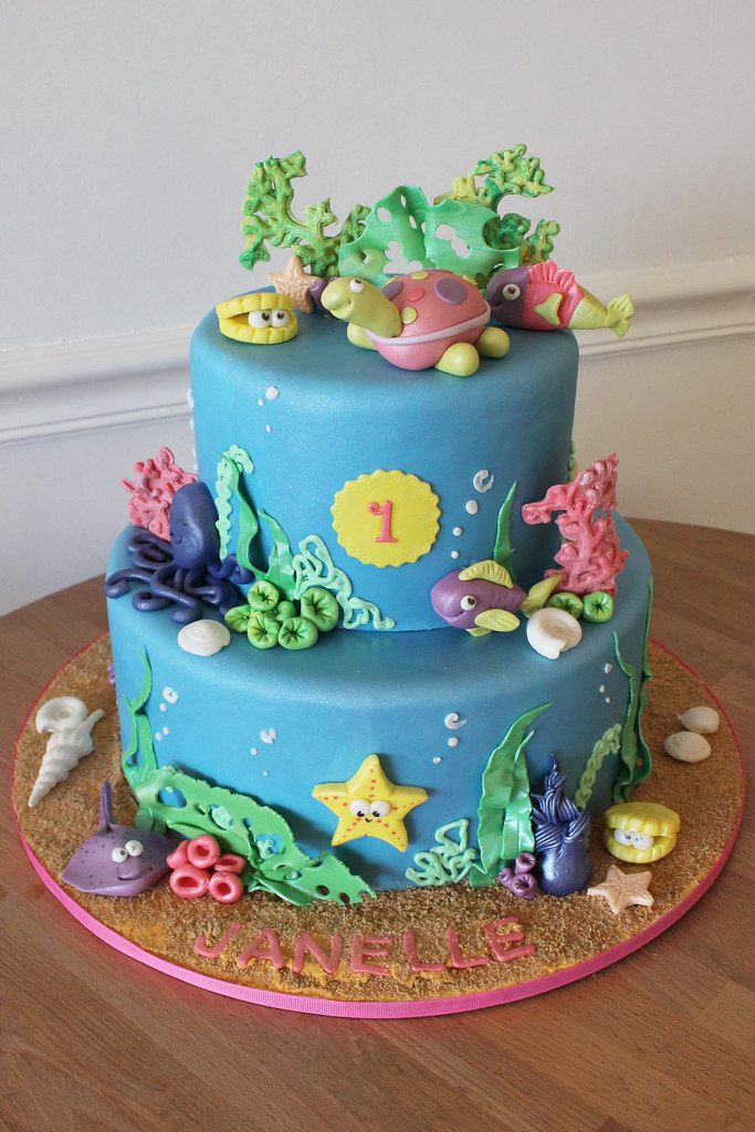 Under The Sea Birthday Cake Oakleaf Cakes Flickr