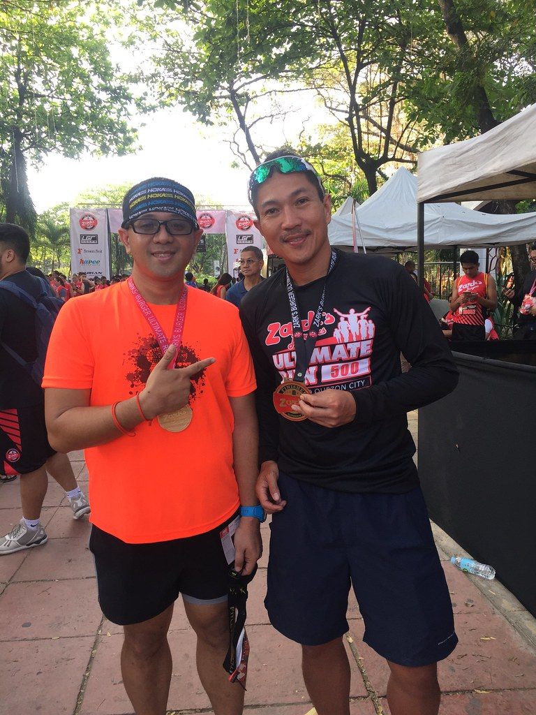 With Rolando Espina, who topped the 500 kilometer ultramarathon from Ilocos Norte to Quezon City.
