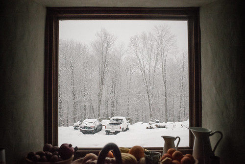 Snowy Homestead as Seen from Cottage Kitchen Window | by goingslowly