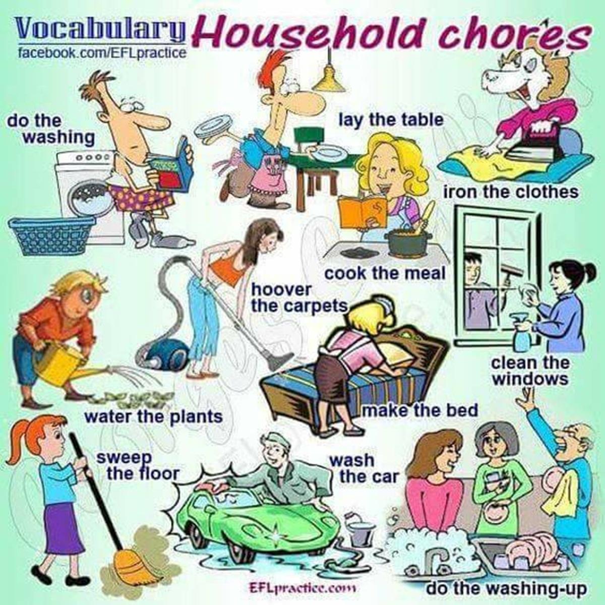 Vocabulary: Household Chores 3