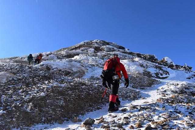 冬の赤岳登山