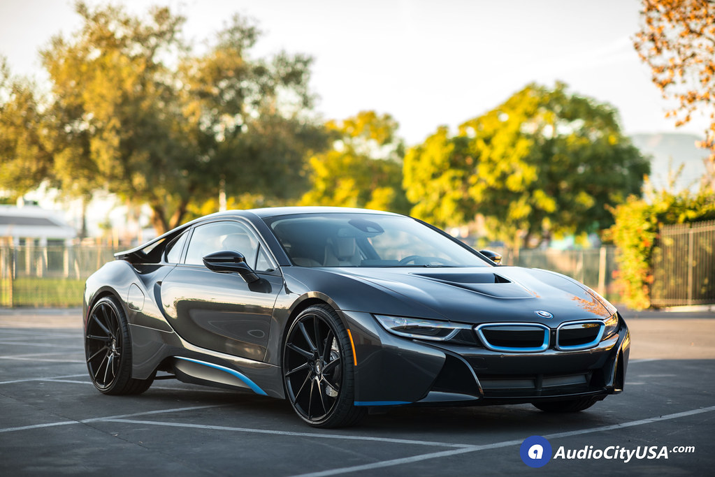 2016 BMW I8 On 22 Savini Wheels BM15 Gloss Black True Directional