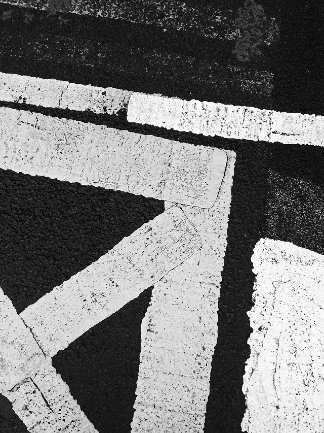 road markings on faded road markings