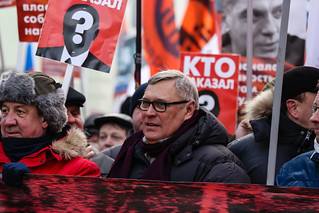 Former prime minister of Russia, the oppositional politician Mikhail Kasyanov at the head of a march | by psvrusso